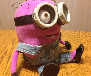 Custom Made Purple Minion Puppet