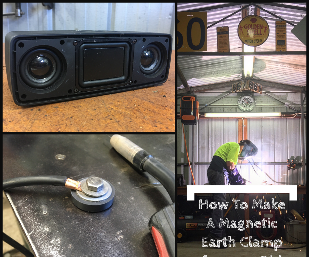 Magnetic Earth Clamp From an Old Speaker