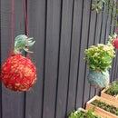 Hanging Yarn Ball Planters (3dprint Version)