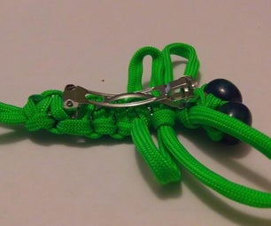 How to Tie a Dragon Fly Hair Barrette With Paracord
