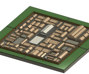 How to Make 3d Model of a Fantasy Town.
