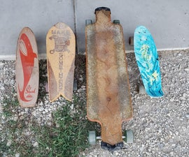 Skateboard Deck From Scrap Wood (without Templet)