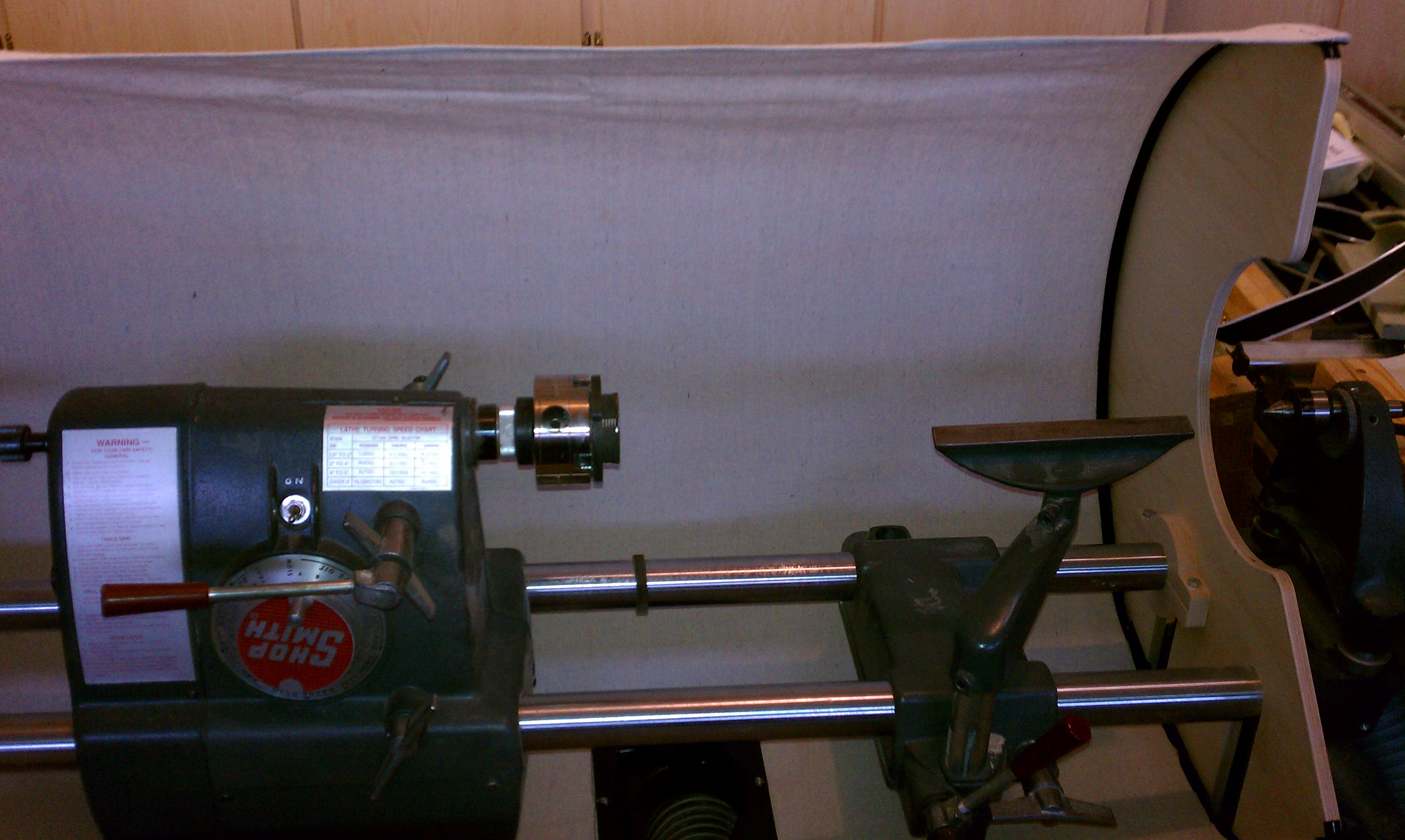 How to control sawdust on a Shopsmith Lathe