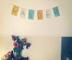 Make Your Own Hanging Flag Banner From Scrap Fabric