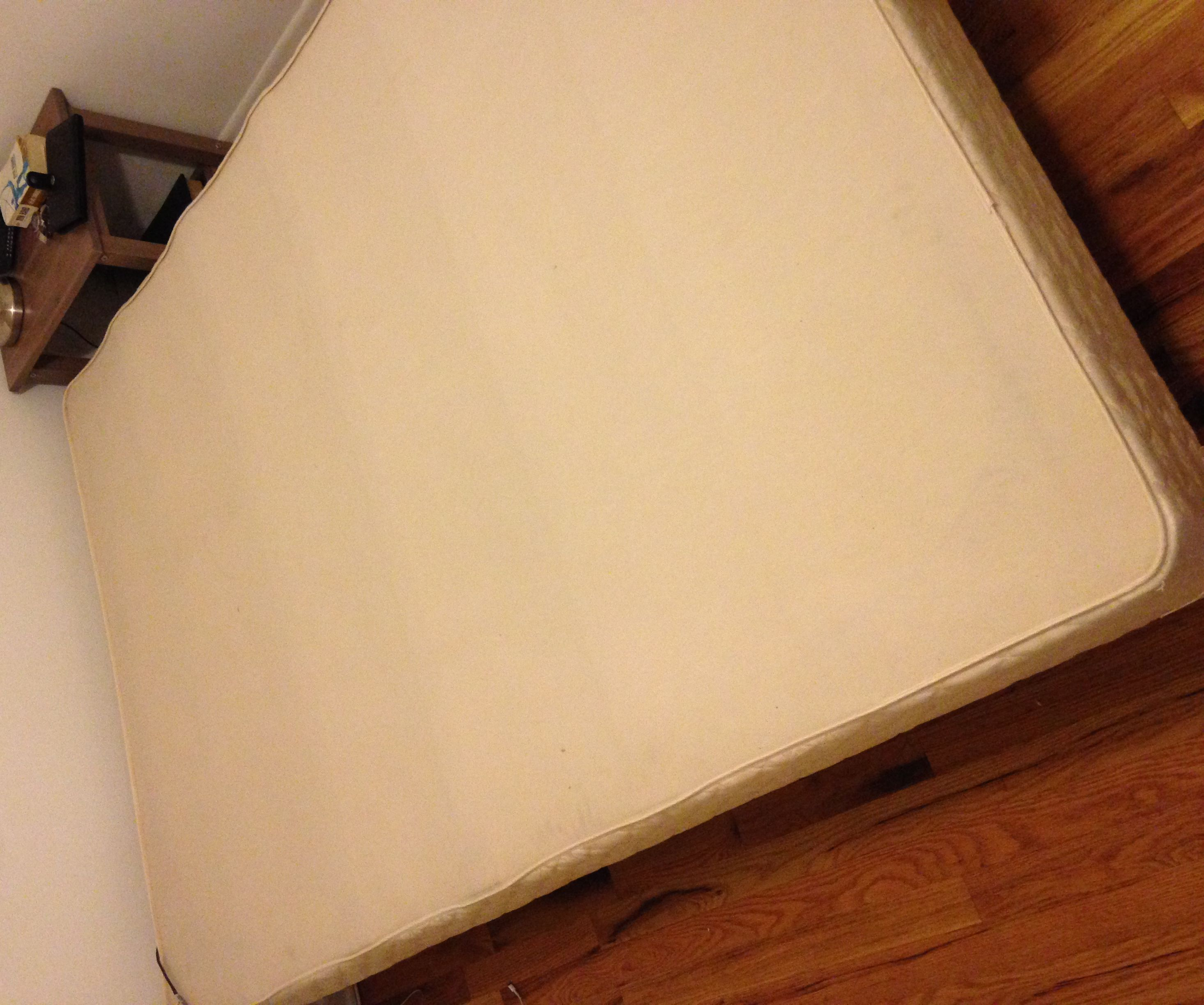 Creaking box spring into bed slats