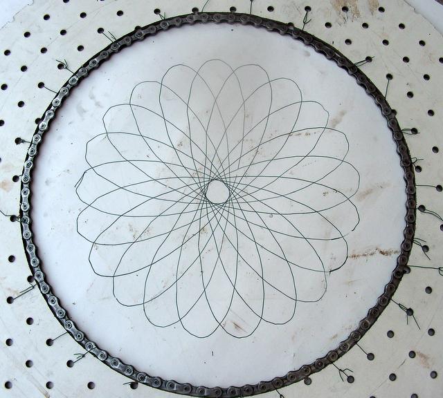 Bike hardware spirograph - bike-o-graph!