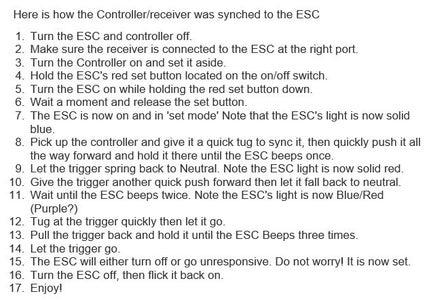 [NEW!] Programing the ESC