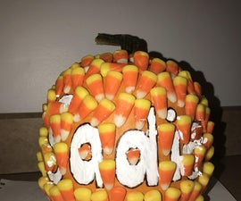 DIY Personalized Message Pumpkin