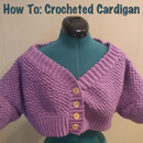 How To: Crocheted Purple Cardigan