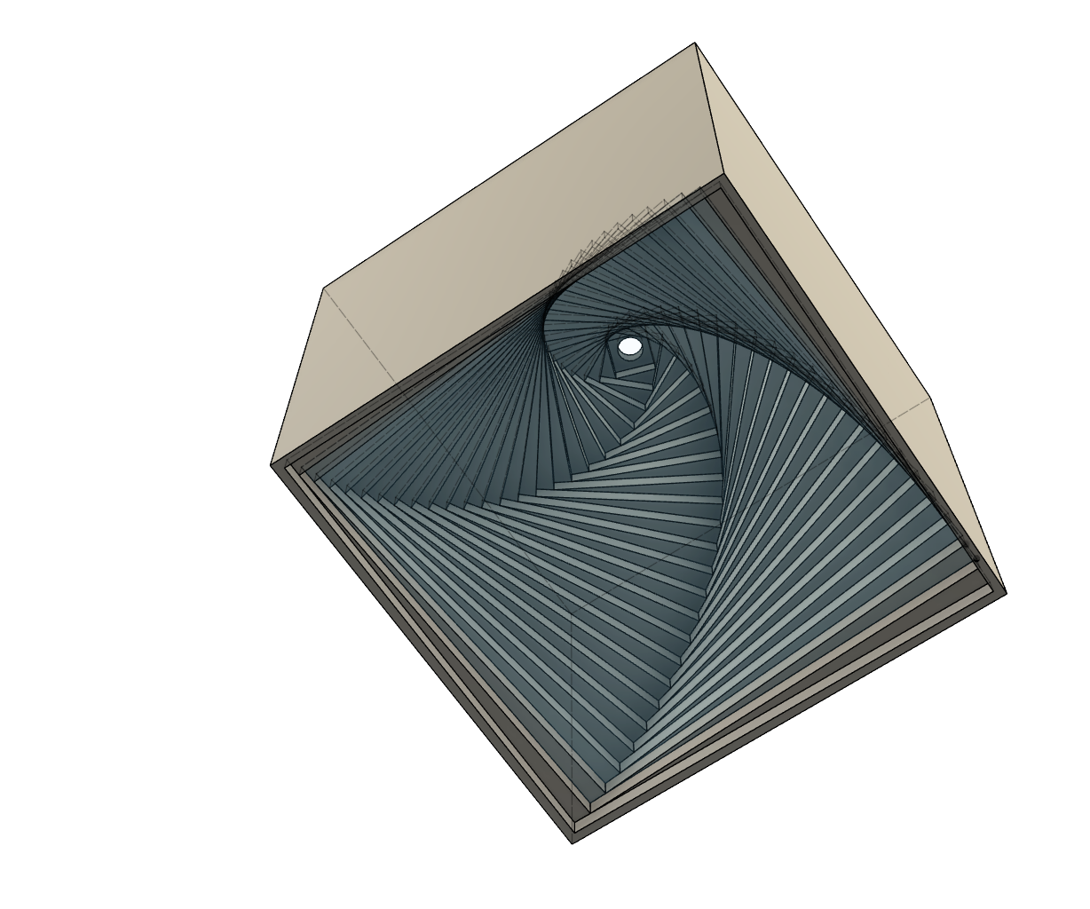 3D Printed Spiral Box Desktop Toy - Using Fusion 360