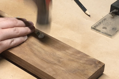 Attaching the Pokemon to the Wood