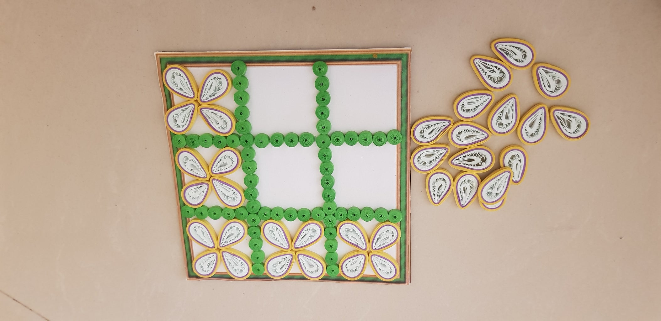 Decoration With Tight Quilling Coils