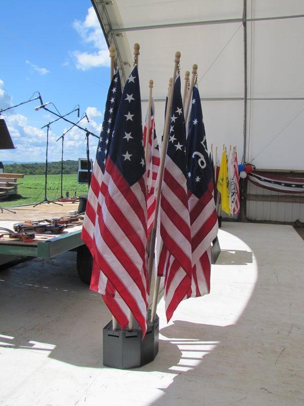 Flag Display Base: 7-Flag Adjustable Angle Bouquet
