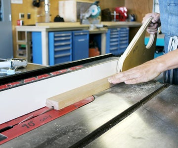 Cutting Slots in the Top Frame