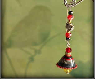 Quilled Fusion Earring (Jhumka)