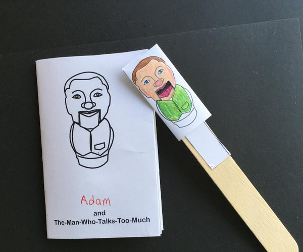"""Personalized Book and Puppet: """"The-Man-Who-Talks-Too-Much"""""""