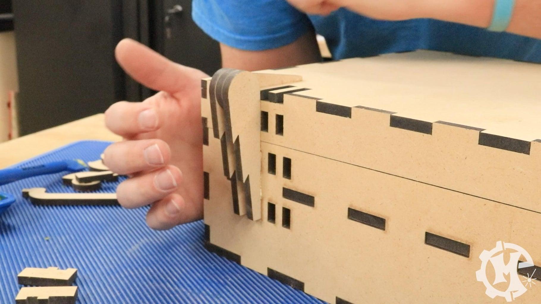 Assemble the Box - Case/Hinge Assembly