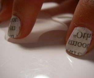 Newspaper Nails