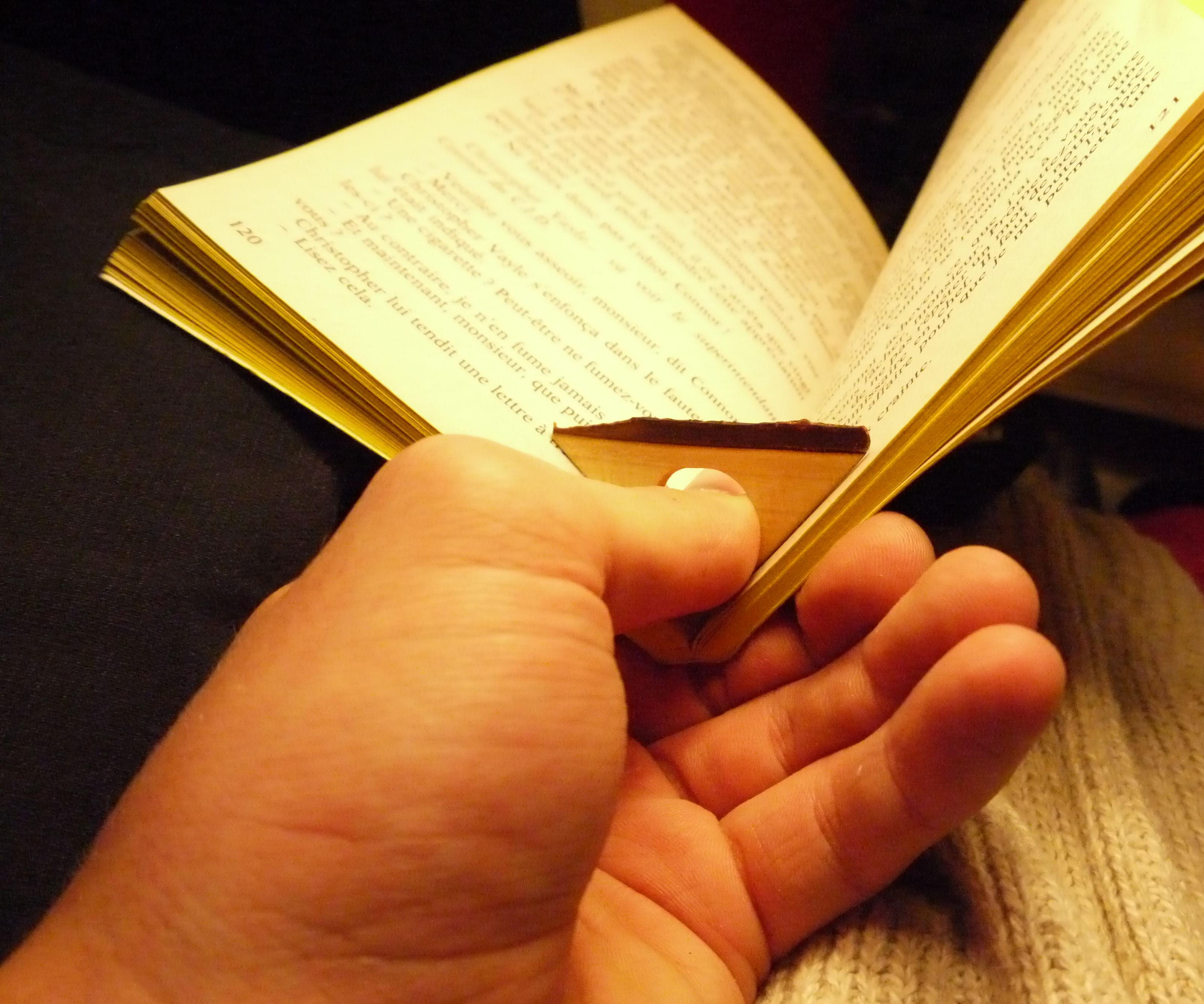 Tiny Handy Wood Bookmark