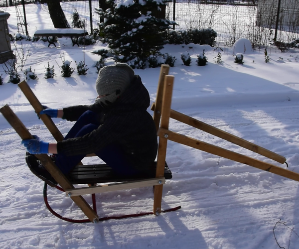 人类动力雪橇 - 船雪橇