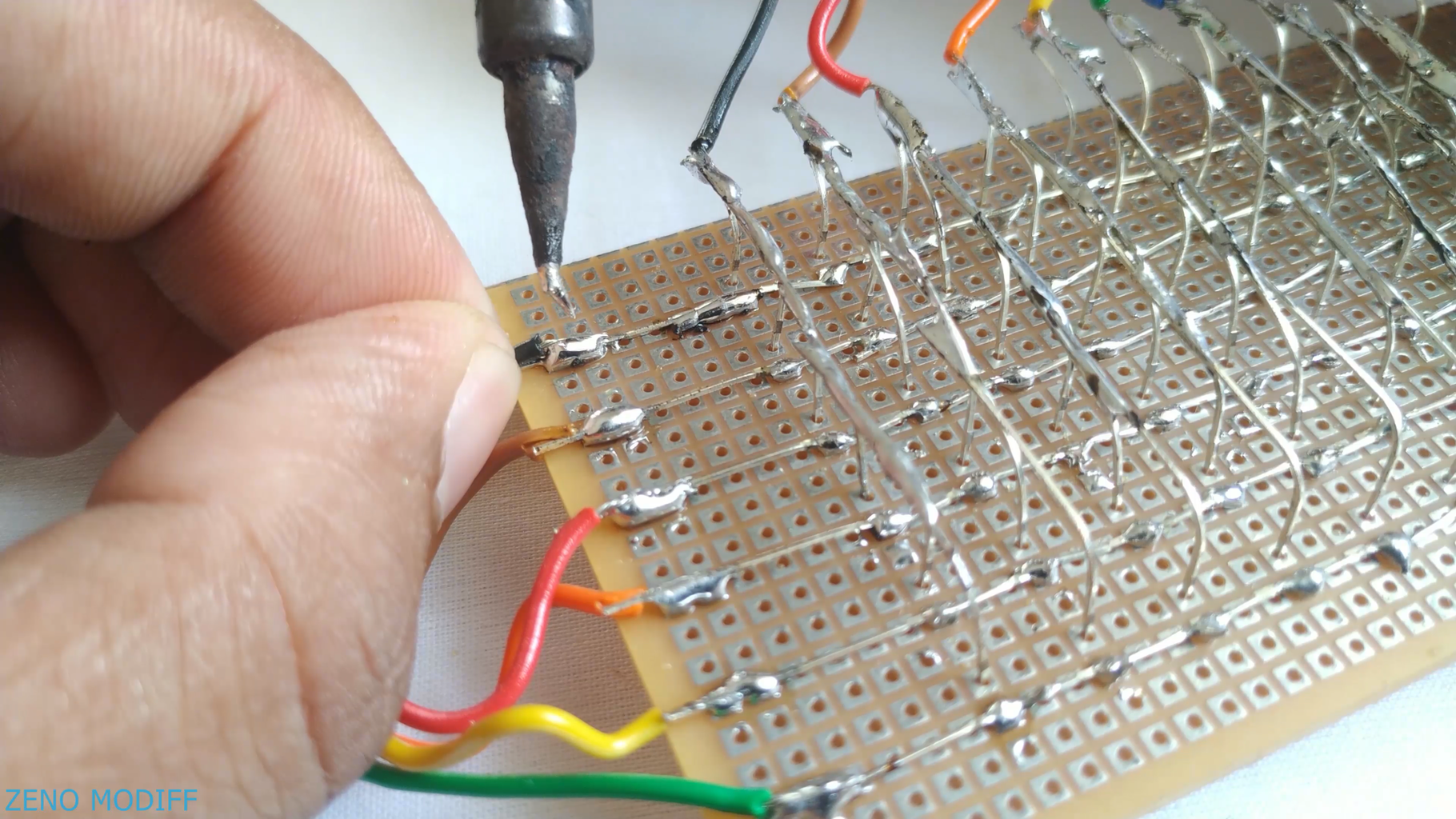 Attaching Wires to the Matrix ..