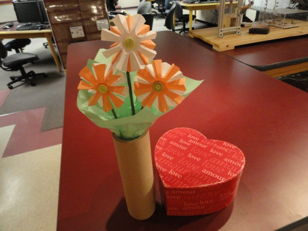 Make a Bouquet of Flowers From Ribbon and Paper