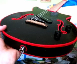 Dumpster Wood Electric Guitar (Using Basic Hand Tools)