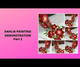 DAHLIA PAINTING DEMONSTRATION Part 2