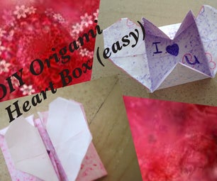 DIY Origami Heart Box- Secret Message (easy