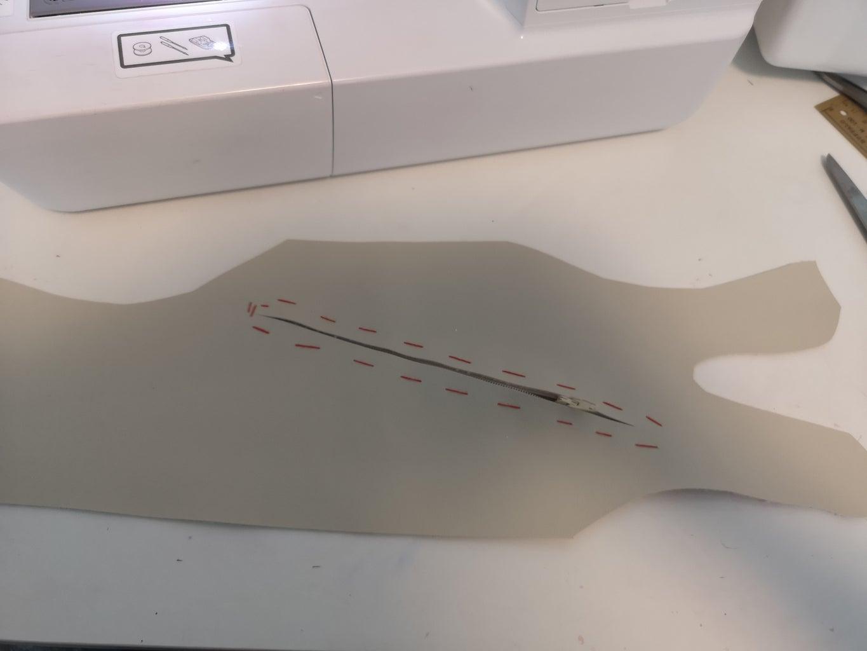 Sewing in the Zipper