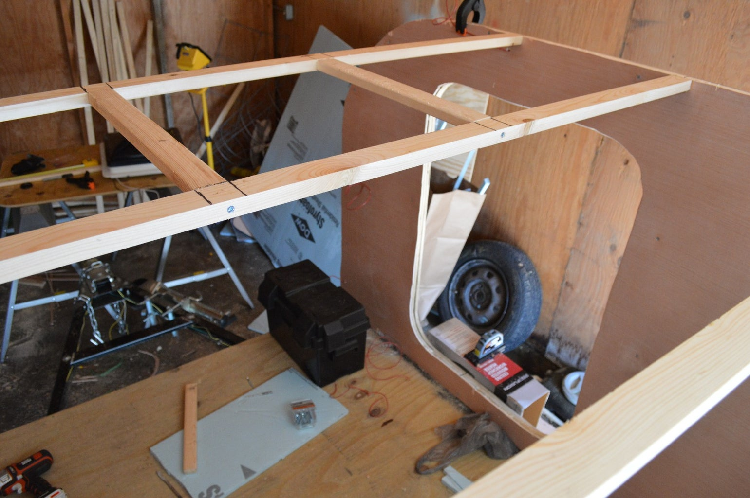 Wood Spars for the Roof Supports