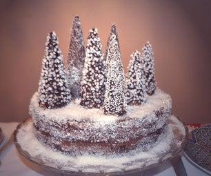 多雪的森林蛋糕