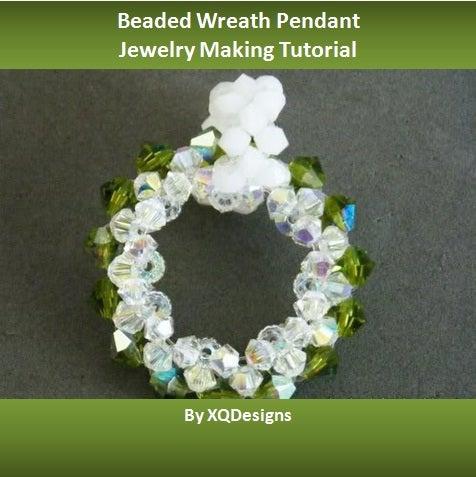 Beaded Wreath Pendant Jewelry Making Tutorial