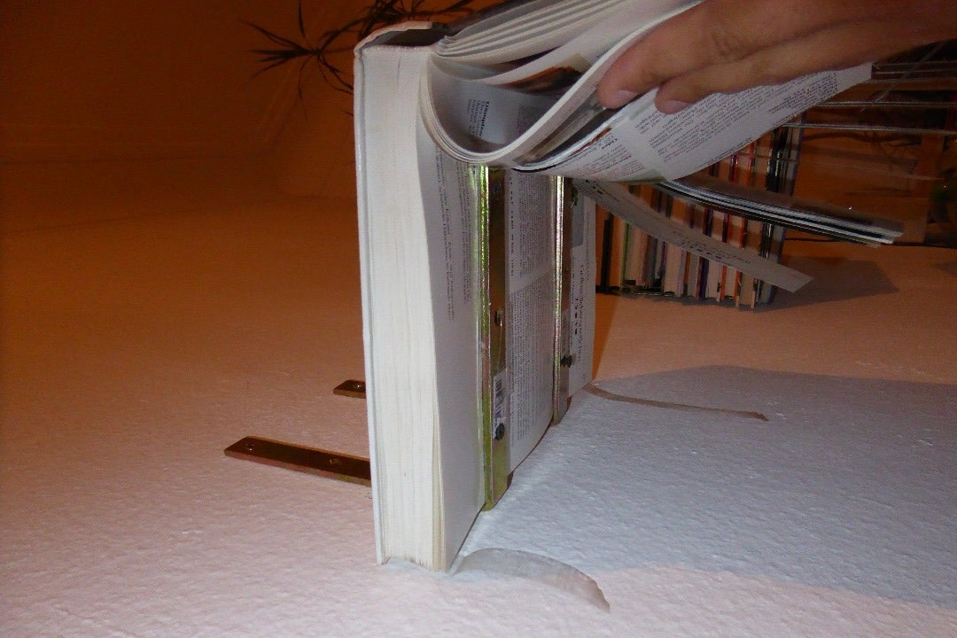 Fix the Book to the Brackets