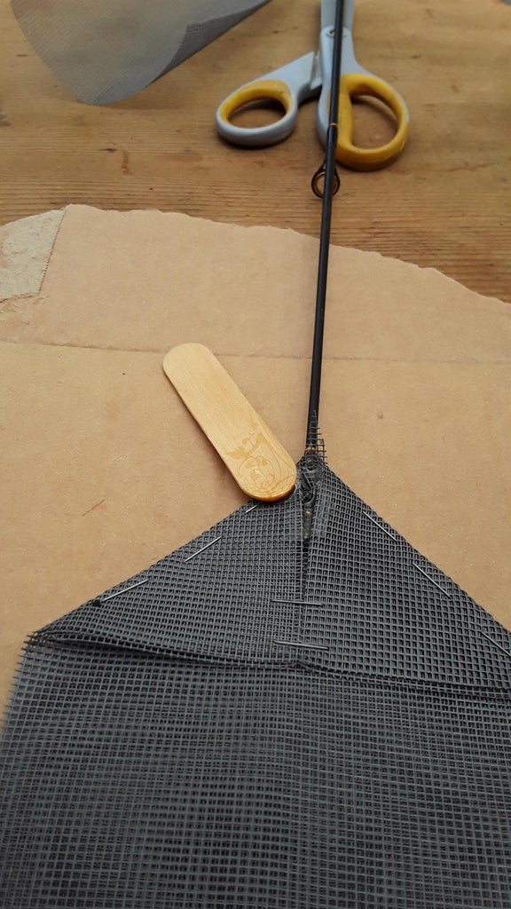 Glue the Flap to the Rod Tip