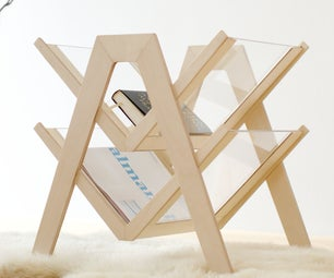 Make a Wooden Magazine Rack With a Laser Cutter