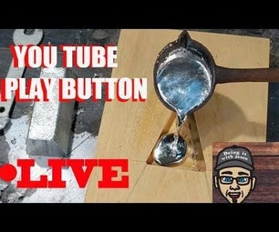 Melt Metal Into Wood *Live on TV YouTube Play Button