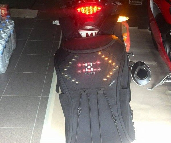 Wireless Led Backpack for Motorcycle