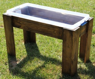DIY Wooden Frame Water Table