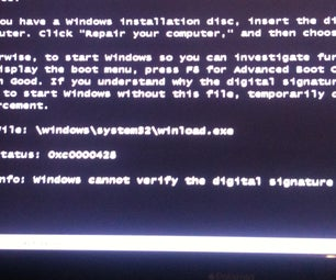 """How to Fix """"windows Can Not Verify the Digital Signature of This File"""" With Winload.exe"""