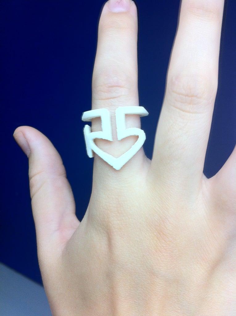 3D Printed Plastic R5 Ring