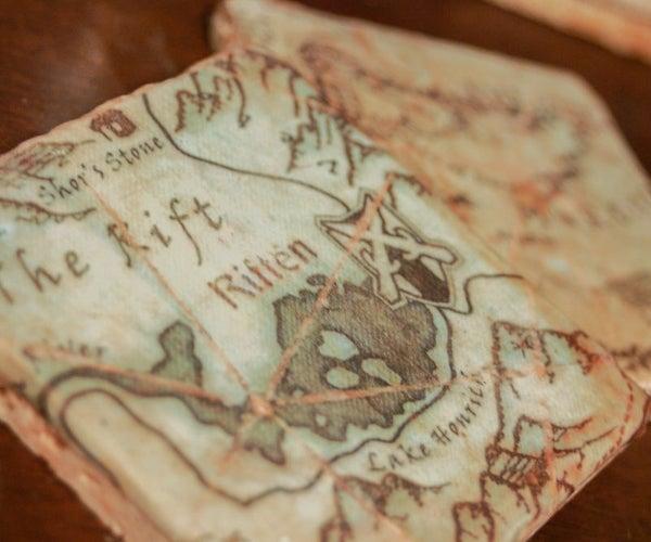 Fantasy Map Coasters
