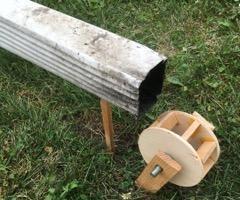 Water Wheel for Rain Downspout