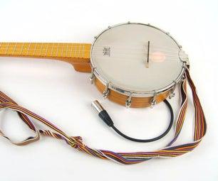 Install a Cortado Balanced Piezo Pickup in a Banjolele