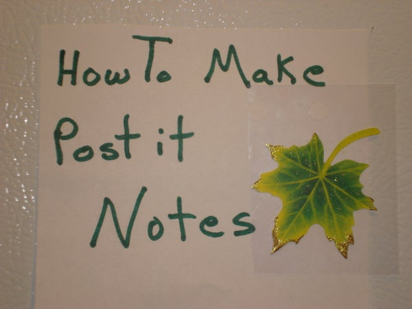How to Make Post It Notes