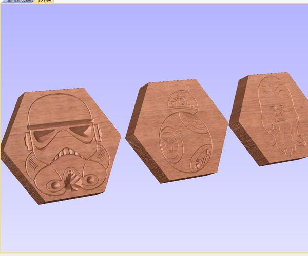 CNC Star Wars Coasters
