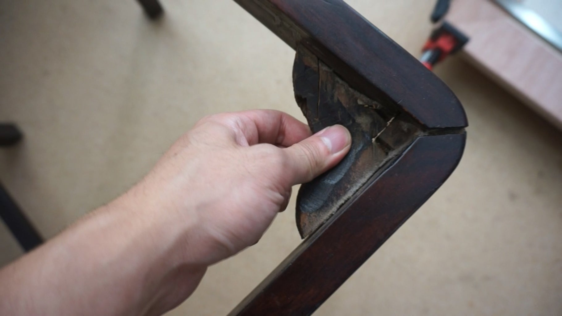 Disassemble the Chair - Remove the Corner Brace