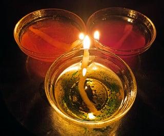 DIY Water Candles
