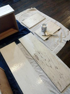 Painting the Cabinets With Rustoleum...