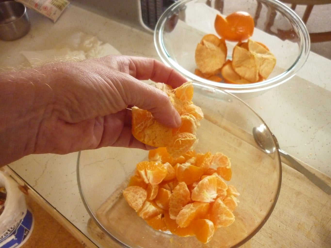 Wash and Peel the Fruit